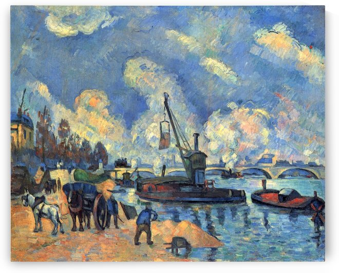 Die Seine bei Bercy by Paul Cezanne