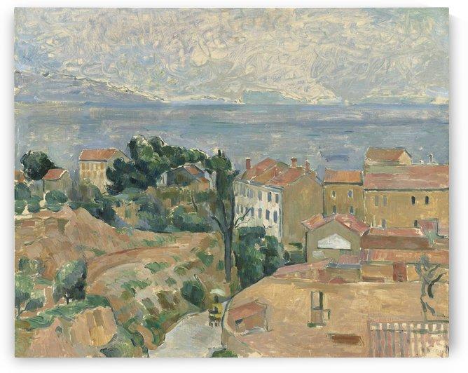 Blick auf LEstaque by Paul Cezanne