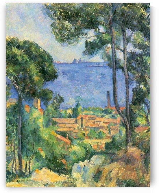 Blick auf LEstaque und das Chateaux by Paul Cezanne