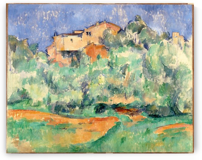 The farm of Bellevue with dovecote by Paul Cezanne