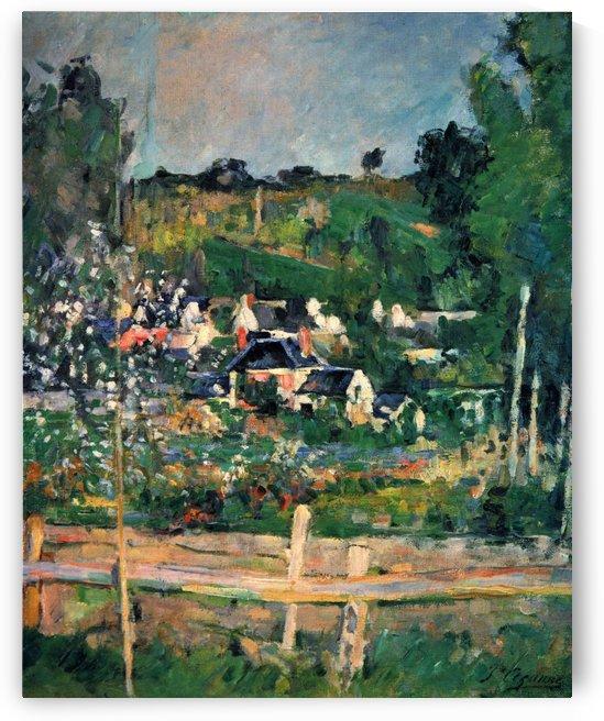 Blick auf Auvers-sur-Oise by Paul Cezanne