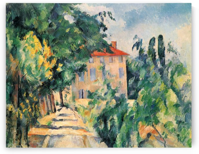 House with Red Roof by Paul Cezanne
