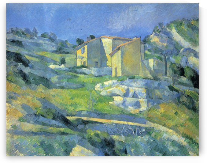 Hauser in der Provence by Paul Cezanne