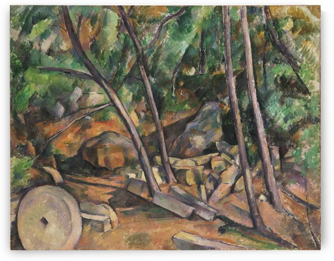 Millstone in the Park by Paul Cezanne