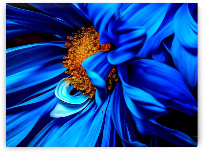 Beautiful Blue Flower_OSG by One Simple Gallery