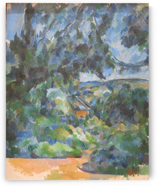 Blaue Landschaft by Paul Cezanne