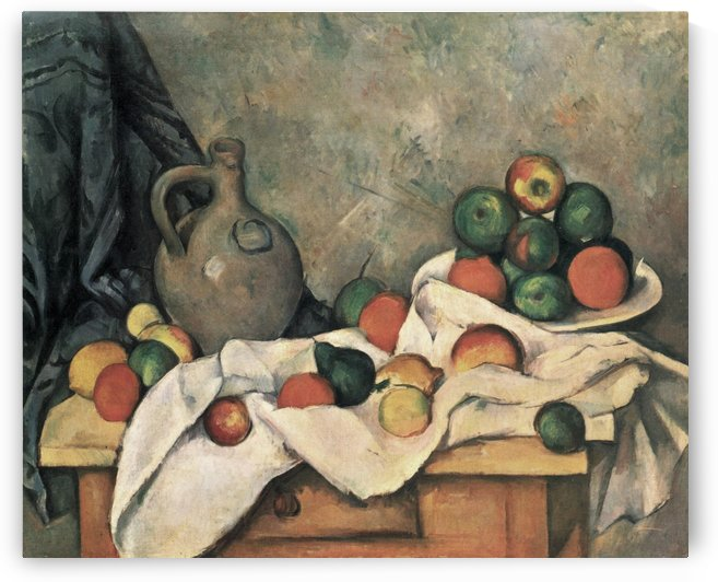 Krug und Obstschale by Paul Cezanne