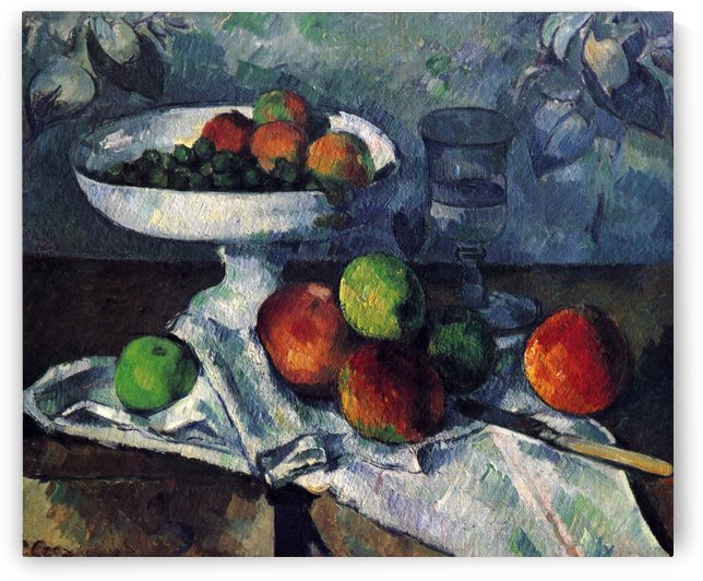 Stilleben mit Obstschale by Paul Cezanne