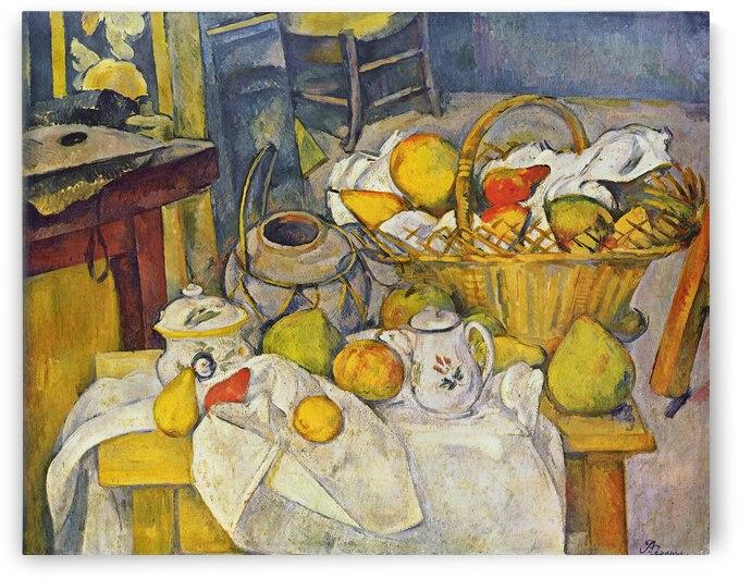Stilleben mit Fruchtekorb by Paul Cezanne
