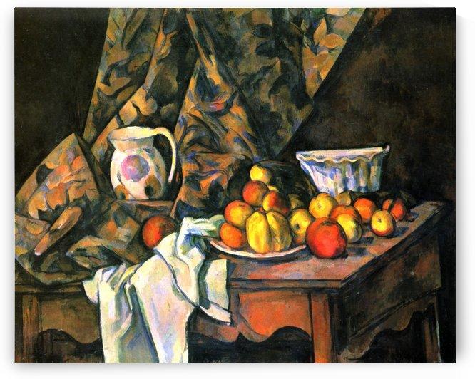 Stilleben mit apfeln und Pfirsichen by Paul Cezanne