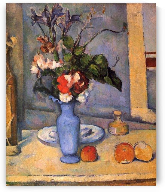 Stilleben mit blauer Vase by Paul Cezanne