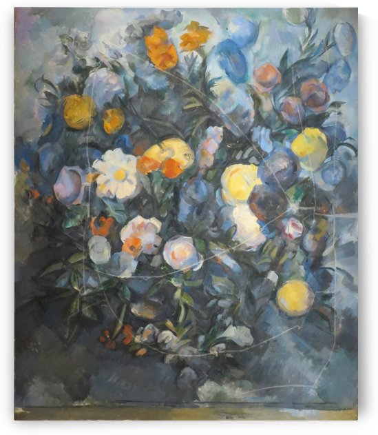 Flowers, oil on canvas by Paul Cezanne