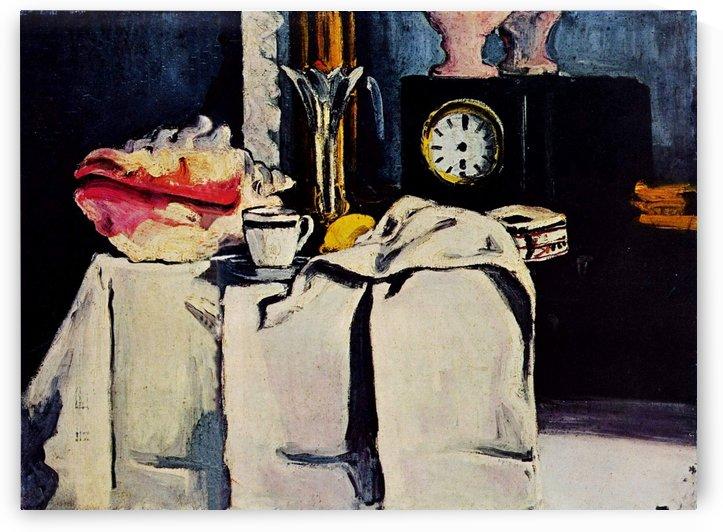 Die schwarze Marmoruhr by Paul Cezanne