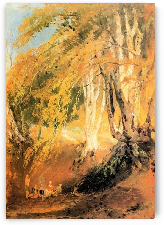Beech woods with Gypsies 2 by Joseph Mallord Turner by Joseph Mallord Turner