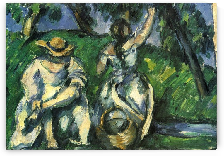 Die Obstpfluckerin by Paul Cezanne