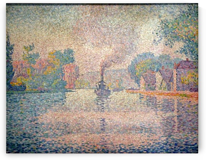 LHirondelle Steamer on the Seine by Paul Signac