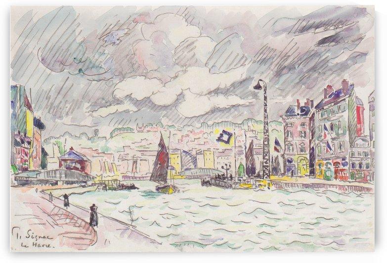 Le Havre mit Regenwolken by Paul Signac