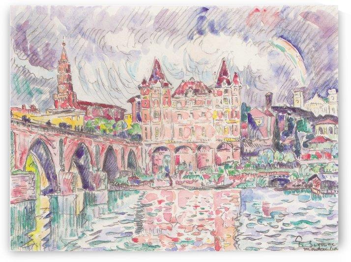 Blick auf Montauban bei Regen by Paul Signac