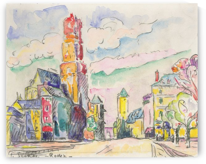 Rodez by Paul Signac
