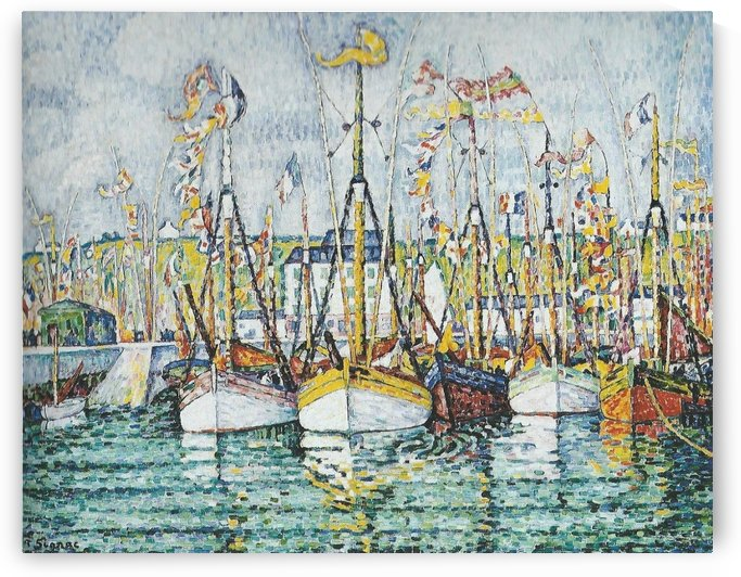 Benediction des thoniers a Groix by Paul Signac