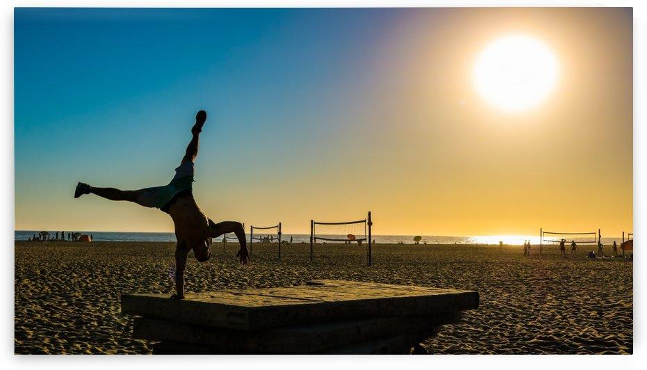 Handstand at pier by CWarren