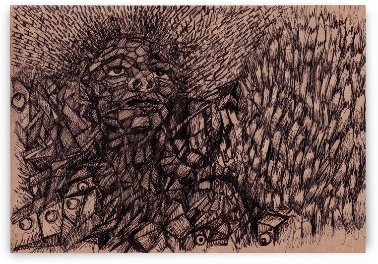 Pen Drawing by Delaram dehrouyeh