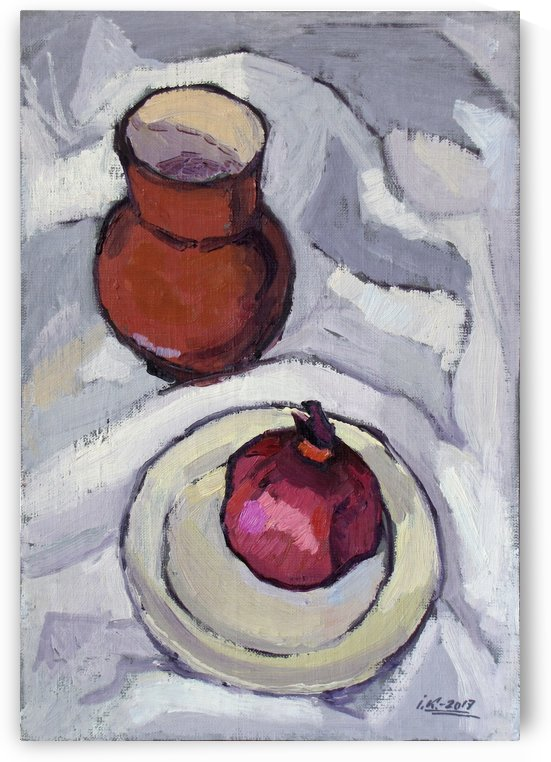 Still Life with Pomegranate by Ivan Kolisnyk