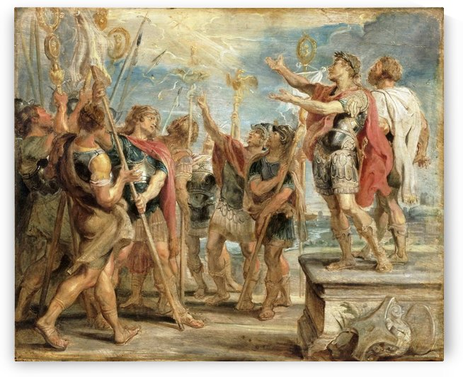 The Emblem of Christ Appearing to Constantine by Peter Paul Rubens