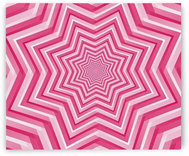 Pink Geometric Design Art by Rizwana Khan