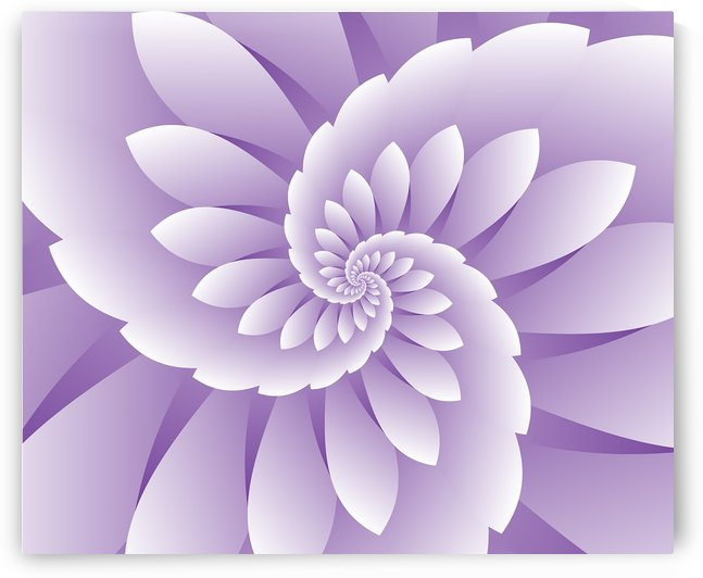 3D Purple Floral Art by rizu_designs