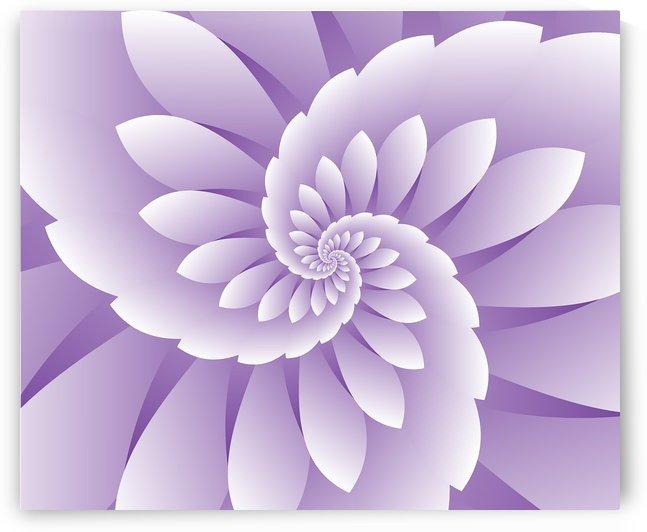 3D Purple Floral Art by Rizwana Khan