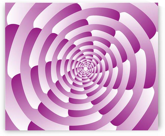 Abstract Pink Spiral Art  by Rizwana Khan