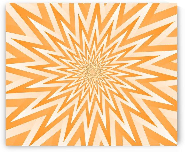 Abstract Orange Geometric  Artwork by rizu_designs