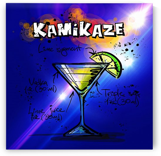 KAMIKAZE BLUE COCKTAIL_OSG by One Simple Gallery