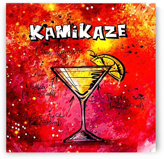 KAMIKAZE RED COCKTAIL_OSG by One Simple Gallery