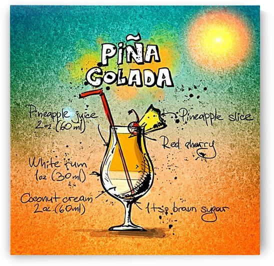 PINA COLADA COCKTAIL_OSG by One Simple Gallery