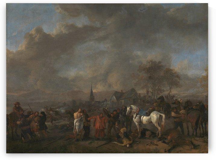 De overwinning der boeren Rijksmuseum by Philips Wouwermans