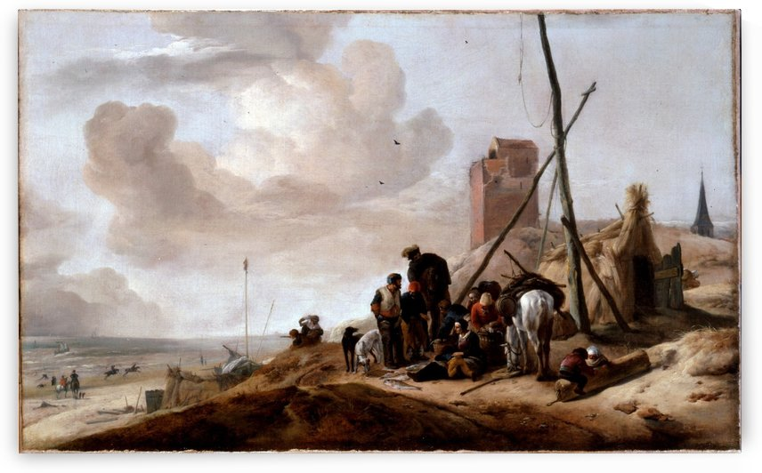 A Coastal Scene by Philips Wouwermans