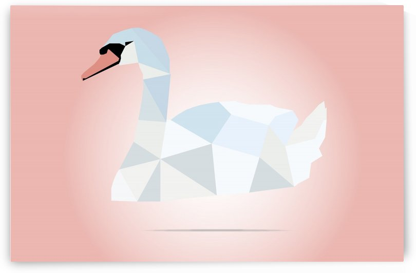 SWAN LOW POLY ART by rizu_designs