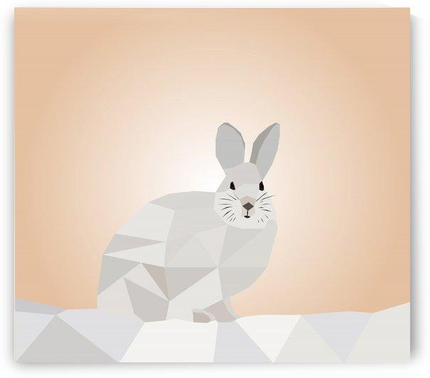 Rabbit LOW POLY ART by rizu_designs