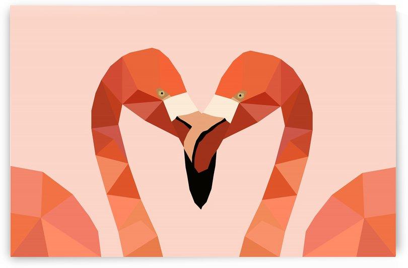 Flamingo Bird LOW POLY ART   by Rizwana Khan