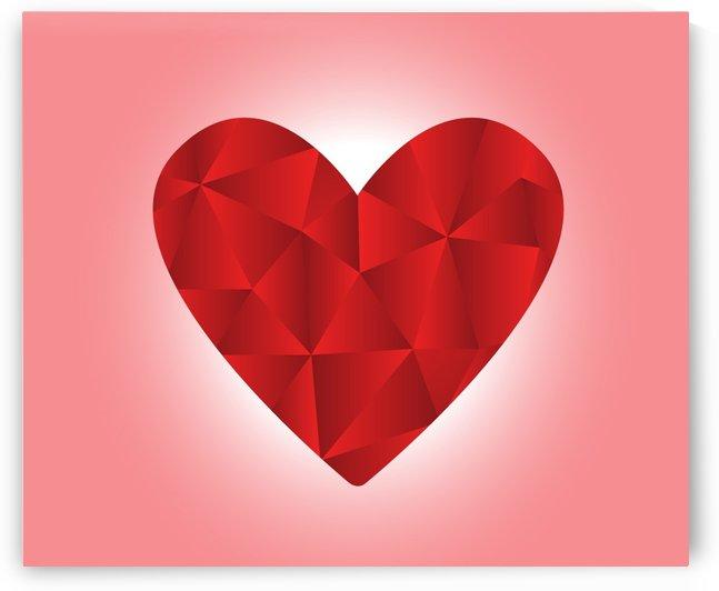 HEART SHAPED ART by Rizwana Khan