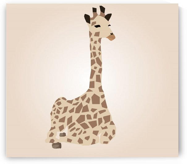 Giraffe Illustration by rizu_designs