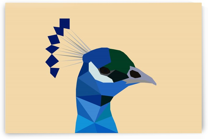 PEACOCK LOW POLY ART by rizu_designs