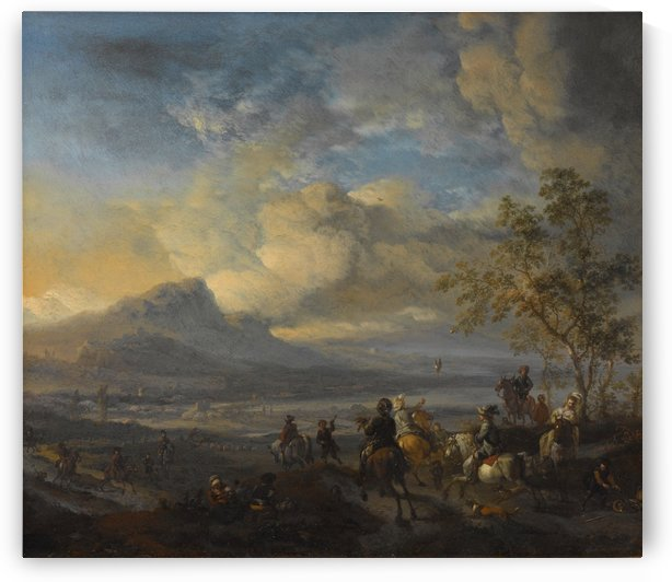 Reigerjacht by Philips Wouwermans