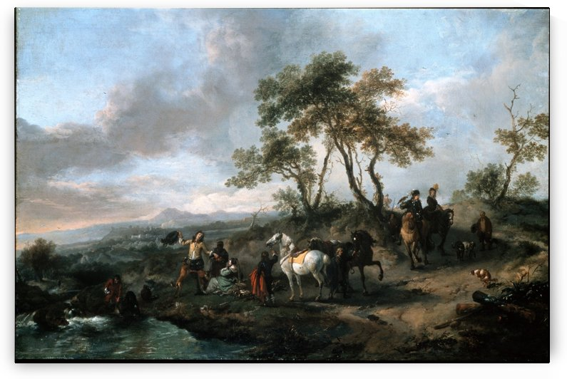 Halt of a Hunting Party by Philips Wouwermans
