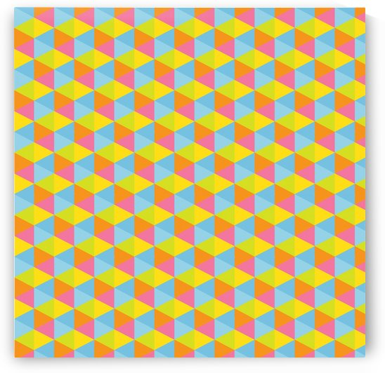 Hexagon Seamless Pattern Artwork by rizu_designs