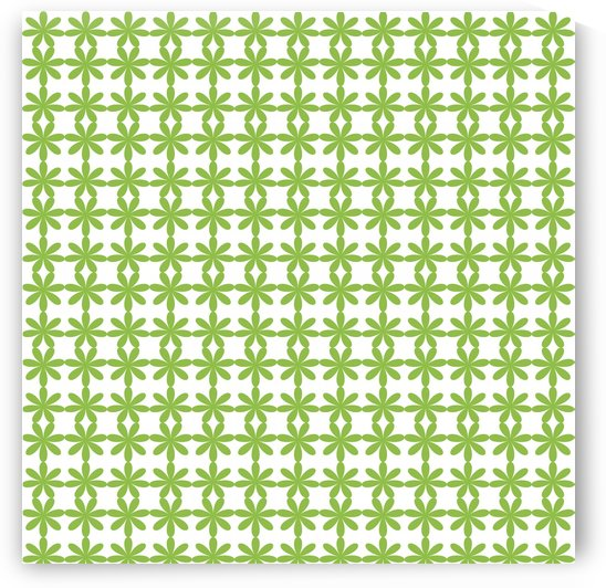 Green Flower Seamless Pattern Artwork by rizu_designs