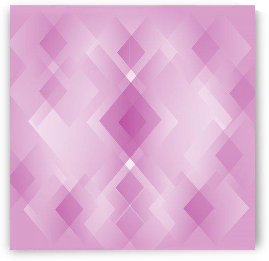 Diamond Shape Pink Art by Rizwana Khan