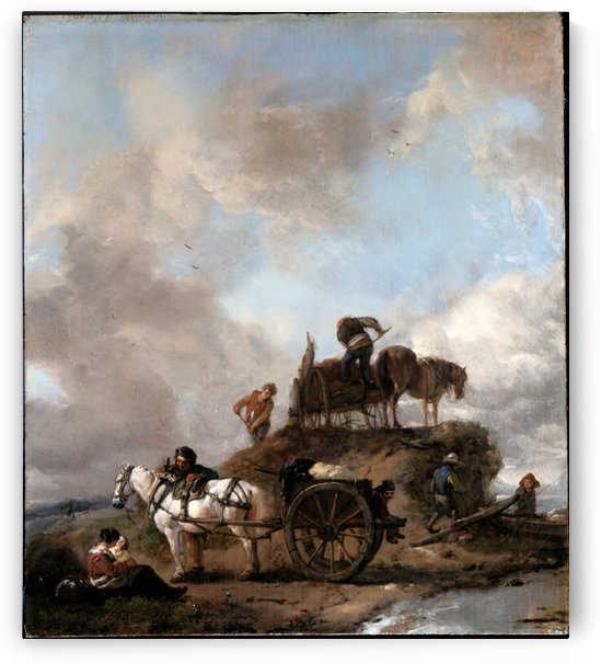 Peasants in the Fields by Philips Wouwermans
